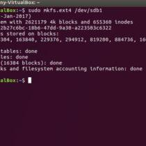 Formatting and partitioning a drive under Ubuntu