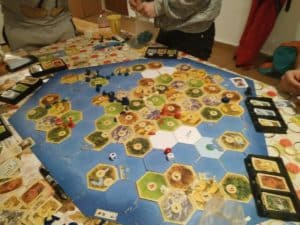 One Catan, in the basement, at Straja, please; without chips